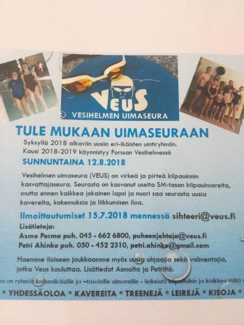 Uimakoulut 2018-19
